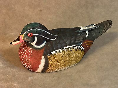 Original WOOD DUCK Wood Carving