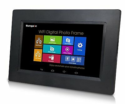 """Sungale 7"""" WiFi Photo Frame, 1.3GHz, 4GB, Touch Screen (1024x600) AD702"""