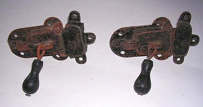 Vintage Cast Iron Pair Latches for Sliding Barn Doors Industrial Repurpose