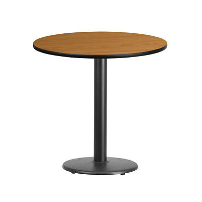 30'' Round Natural Laminate Table Top With 18'' Round Table Height Base