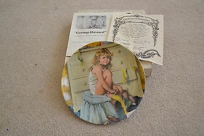 """Reco Plate, McLelland, Becky's Day Collect., """"Getting Dressed"""" 1985, Lot #124"""