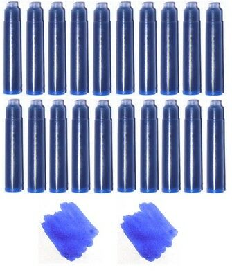 20 - Fountain Pen Refill Ink Cartridges for Jinhao, Baoer & More - Royal Blue