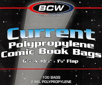 200 Current Comic Bags and Boards NEW BCW Quality Modern Archival Book Storage