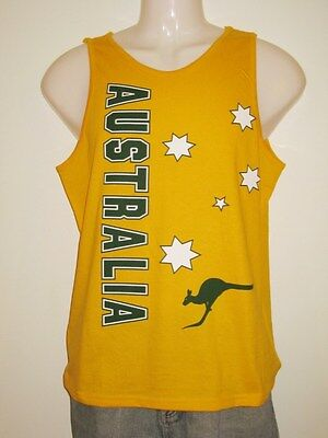 Australian Souvenir Fan Supporter Singlet Tank Men / Women 100% Cotton