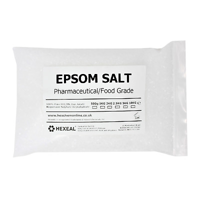 EPSOM SALT | 1KG BAG | 100% Natural | FCC Food Grade | Magnesium Sulphate