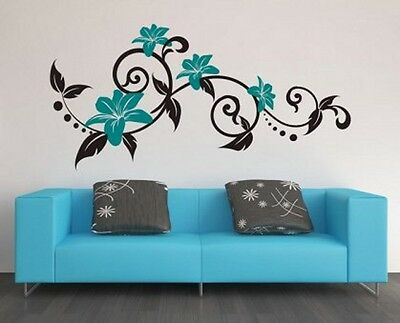 Summer Flowers Amazing Wall Stickers High Quality Many colours 60cm x 120cm NEW