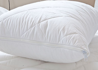 Luxury Egyptian Cotton Quilted Pillow protector PAIR