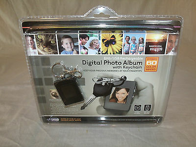 BRAND NEW Digital Photo Album with Keychain 8Mb USB Cable Rechargeable
