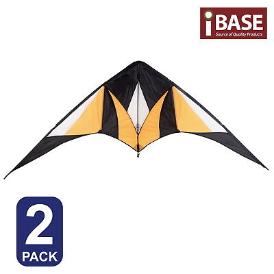 2X Kite Ripstop Outdoor Sports Toy Fun Stunt Gift Idea Dual Control Delta Fly