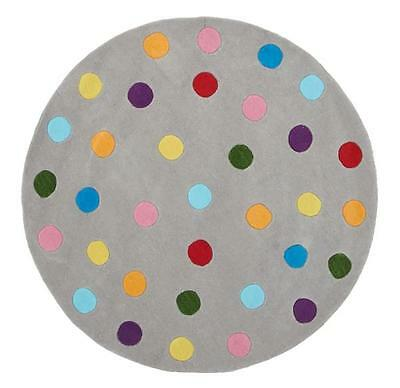 DOTS 146 CIRCLE ROUND KIDS RUG Thick Children Floor Mat Carpet FREE DELIVERY*