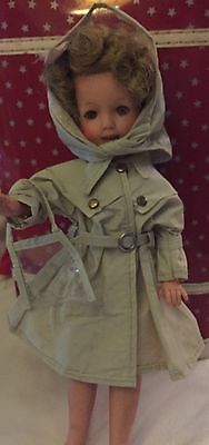 Shirley Temple Rain Coat/Hat/Purse-For St-12 Doll