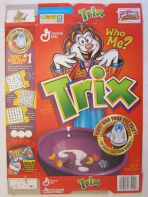 GENERAL MILLS Cereal Box 2003 TRIX Who Me? KIDS! WHO TOOK THE TRIX? 12 oz S165A