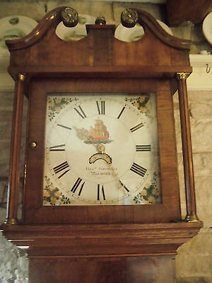 MID 19th CENTURY 30 HOUR LONGCASE CLOCK BY ALEXANDER SIMMONS OF WARWICK