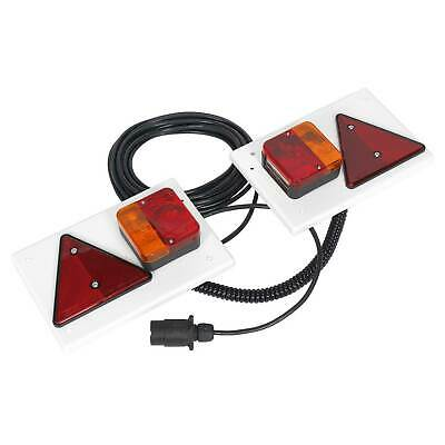 Sealey Lighting Board Set 2pc With 10m Cable 12V Plug Trailer/Towing - TB0212