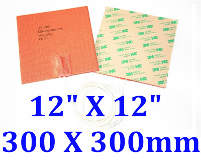 300 mm x 300 mm 300 W 220V With 3M backing Silicone heater pad fuel heater 1PC