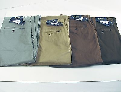 Polo Ralph Lauren Men's Classic Fit Chino Pants Brown Green Tan Gray New Nwt