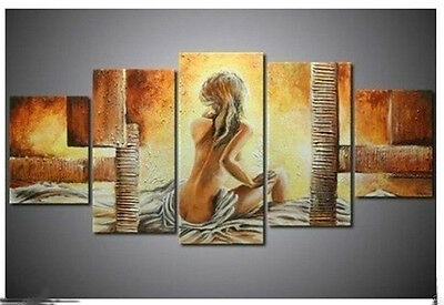 5PC Half-naked woman sitting Canvas Art Oil Painting wall hangi (no framed)31