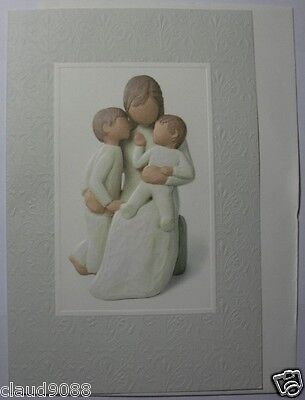 """Willow -Tree Demdaco """"Quietly  Greeting Card 26007 """" Qty Of 5"""