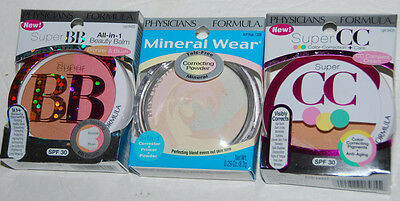 Physicians Formula BB 6433 CC 6435 Mineral Wear 7308 Mixed Lot of 3 NEW