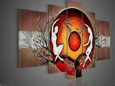 5p Large canvas no frame. Modern Hand-draw Art Oil Painting(no framed)67