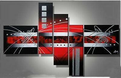Hand 5pc MODERN ABSTRACT CANVAS ART OIL PAINTING (no frame) 87