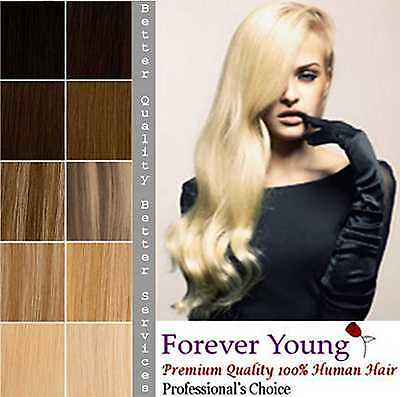 Forever Young Double Weft Full Head Remy Human Hair Extension Premium DIY Weft