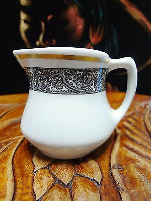 Vintage 1960s Restaurant Ware Creamer w/ Black Scroll by Shenango China USA