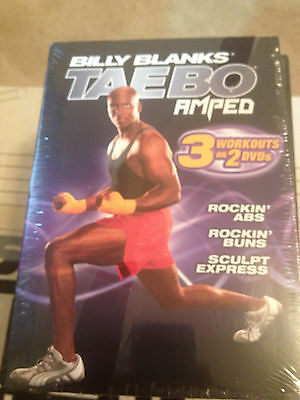 Billy Blanks - Tae Bo: Amped Rockin' 2 Pack (DVD, 2007, 2-Disc Set) new