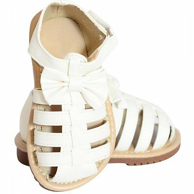 Toddlers Girls Babies Summer Strappy Sandals Gladiators Bows Shoes Size 4-12
