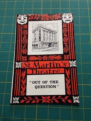 Out Of The Question : St. Martin's Theatre