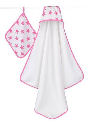 Aden and Anais Fluro Pink towel & washcloth sets