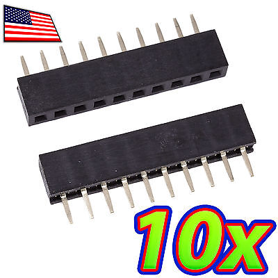 [10x] 10 Pin 2.00mm / 0.08in XBee Single Row Female Pin Header Socket Connector