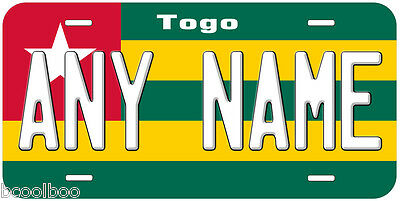 Togo Flag Novelty Car License Plate