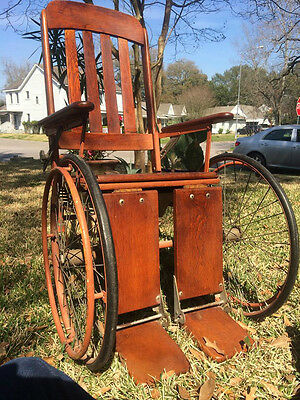 Antique Wheelchair in Excellent Unused Shape, Early 1900's