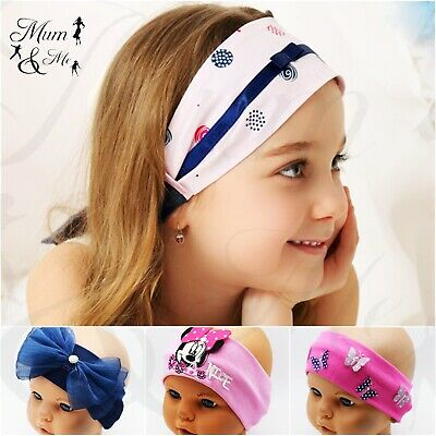 New Baby Girls Kids Hairband Headband Stylish Hair Accessories Flowers Stretchy