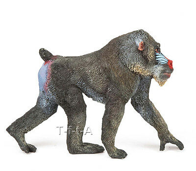 FREE SHIPPING | Papo 50121 Mandrill Toy Wildlife Replica - New in Package