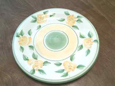 Heritage Mint Friendship Rose SALAD PLATE Stoneware Yellow, Green