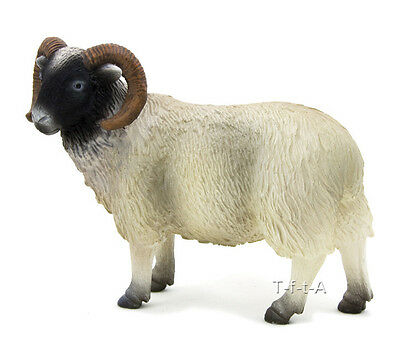 FREE SHIPPING | Mojo Fun 387081 Black Faced Ram Sheep Replica - New in Package