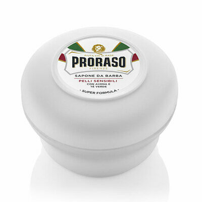 Proraso Sensitive Skin Green Tea & Oat Shaving Cream Soap Pot / Bowl /Tub 150ml