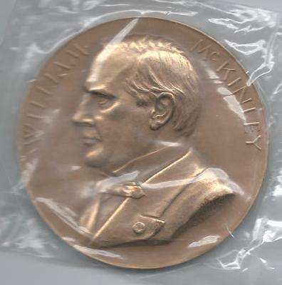 WILLIAM McKINLEY***VERY HIGH RELIEF LARGE BRONZE MEDAL***76.2mm AND 8.3 oz.