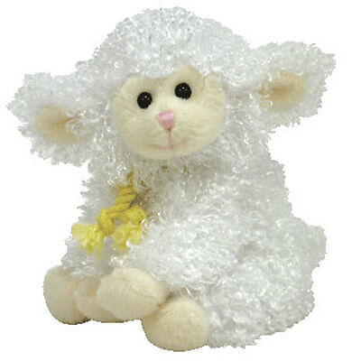 TY Basket Beanie Baby - FLOXY the Lamb (4.5 inch) - MWMT's Stuffed Animal Toy