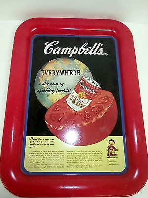 COLLECTIBLE 1994 CAMPBELL'S SOUP SERVING TRAY Tomato Soup Ad Print from 1936