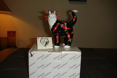 WhimsiClay Cat by Amy Lacombe 2002 Standing Cat Chili Figurine NEW With BOX