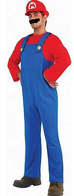 Adult Super Mario Brothers - Mario Costume Fancy Party Halloween Dress Up