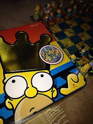The Simpsons Chess Set in Tin Box by Cardinal  Complete