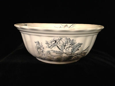 Antique Ironstone Bowl, Blue & White Asethetic Design by T&R Boote England 1880