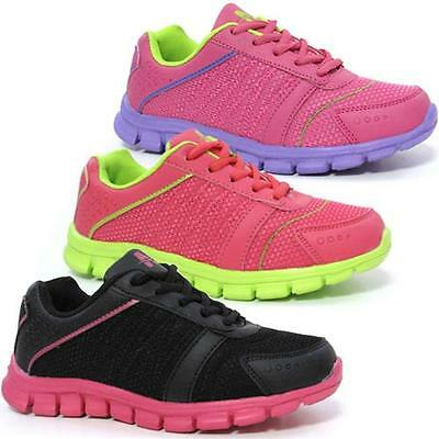 Girls Ladies Running Gym Sports Pumps Casual Shock Absorbing Trainers Shoes Size