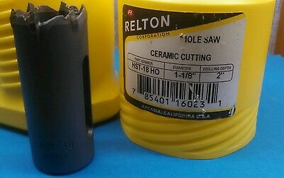 """Relton, CERAMIC Cutting, Hole Saw HST-18 HO, 1-1/8"""" dia, New in box,"""