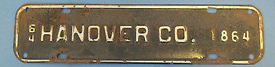 1964 Hanover County license plate from Virginia