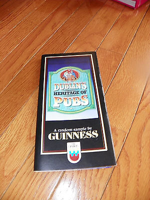 DUBLIN'S HERITAGE OF PUBS GUINNESS 1988 IRELAND HISTORY & MAP  59 PUBS PAMPHLET